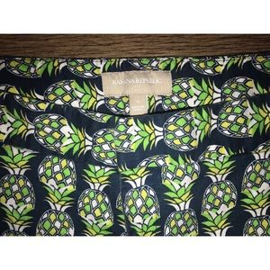 Banana Republic Shorts - Pineapple Print Shorts